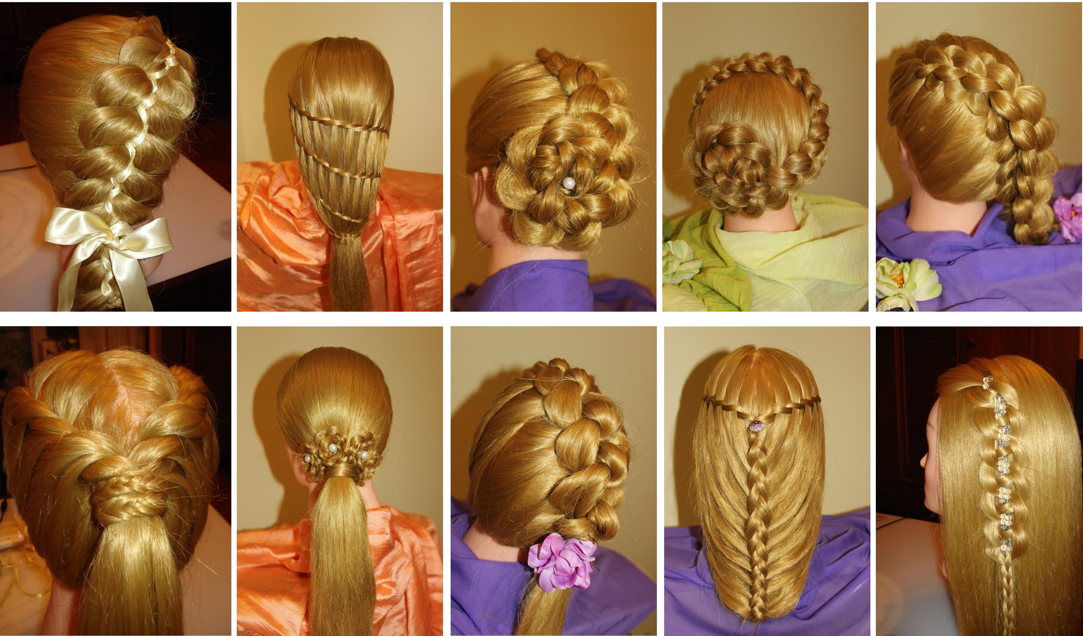 Простое плетение и красивые причёски